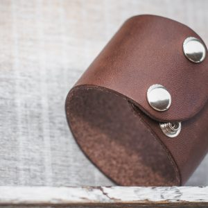 handcrafted handmade leather cuff