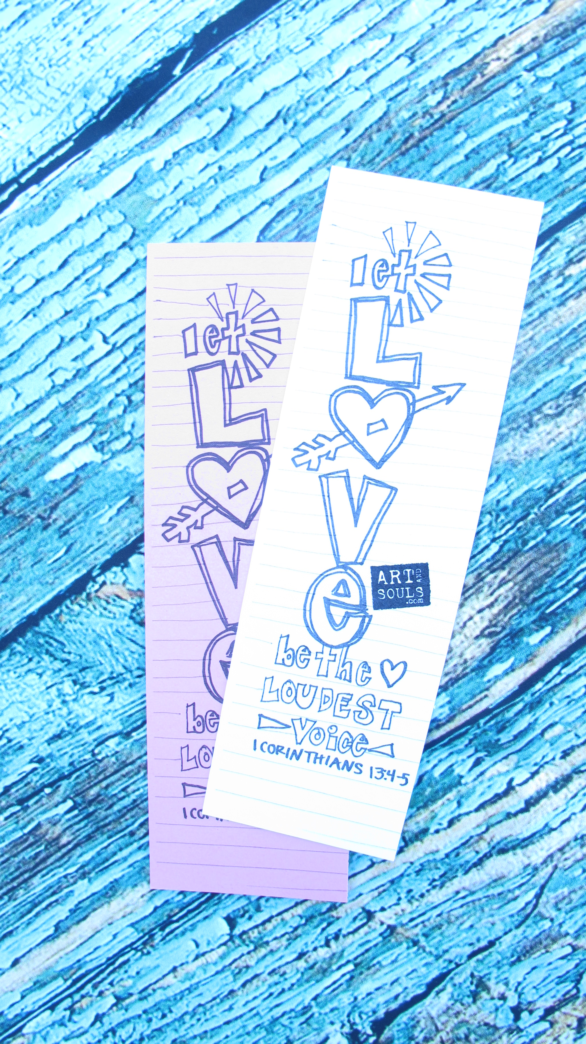 pottery coloring bookmark let Love be the loudest