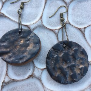 fools gold clay earrings