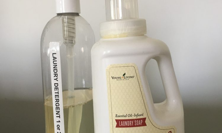 Thieves essential oil soap and pump diluted
