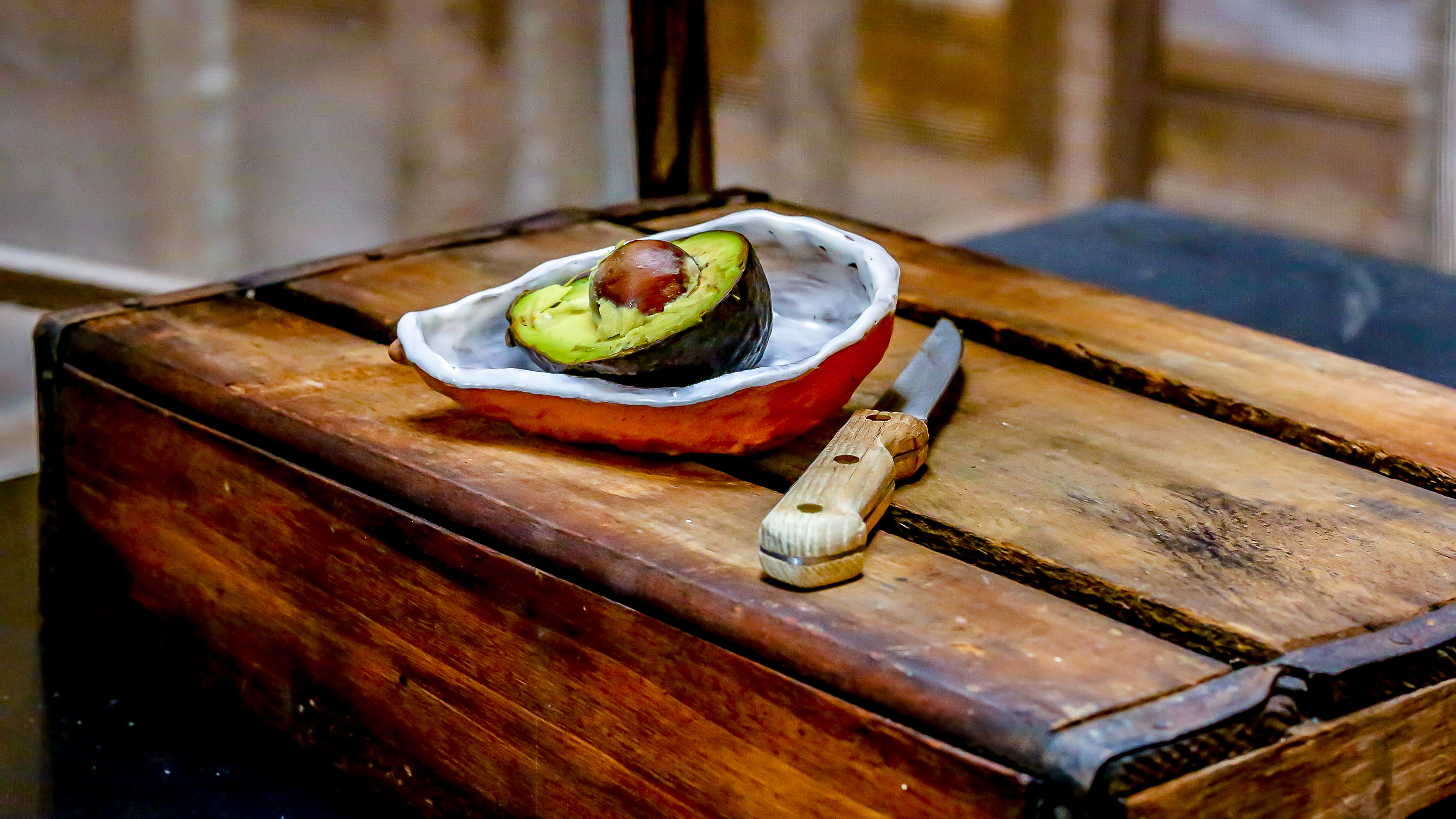 Cool Waters handmade avacado clay dishes