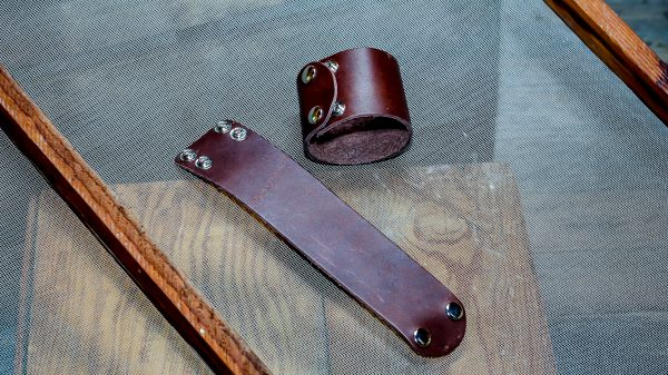 handcrafted leather cuff