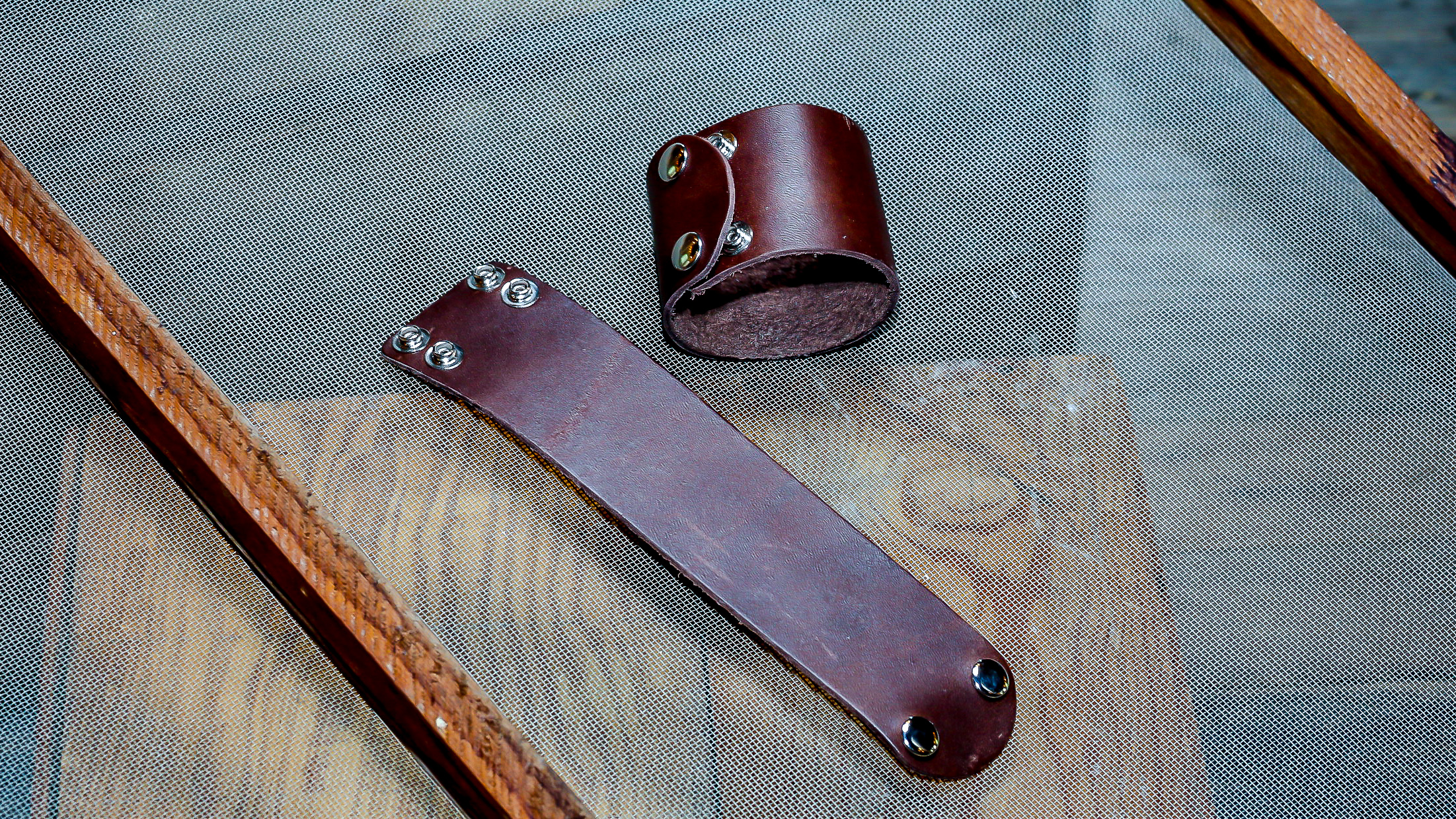 Cool Waters handmade leather cuff