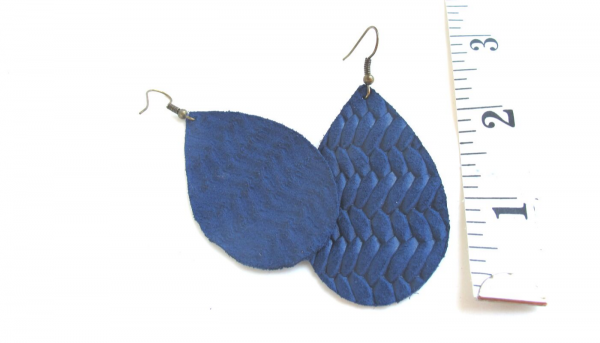 natural leather earrings